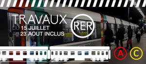 Covoiturage lors des travaux d'été du RER
