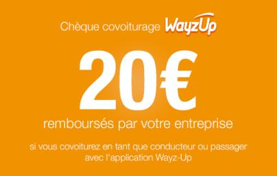 Chèque de remboursement covoiturage Wayz-Up