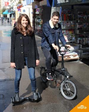 Le vélo pliant et le skate électrique