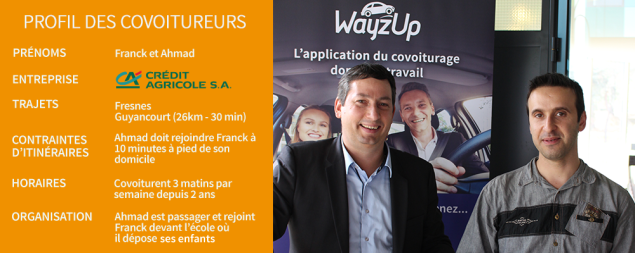 Franck et Ahmad, covoitureurs WayzUp