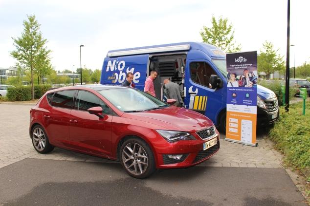 Partenariat garage mobile Norauto et WayzUp