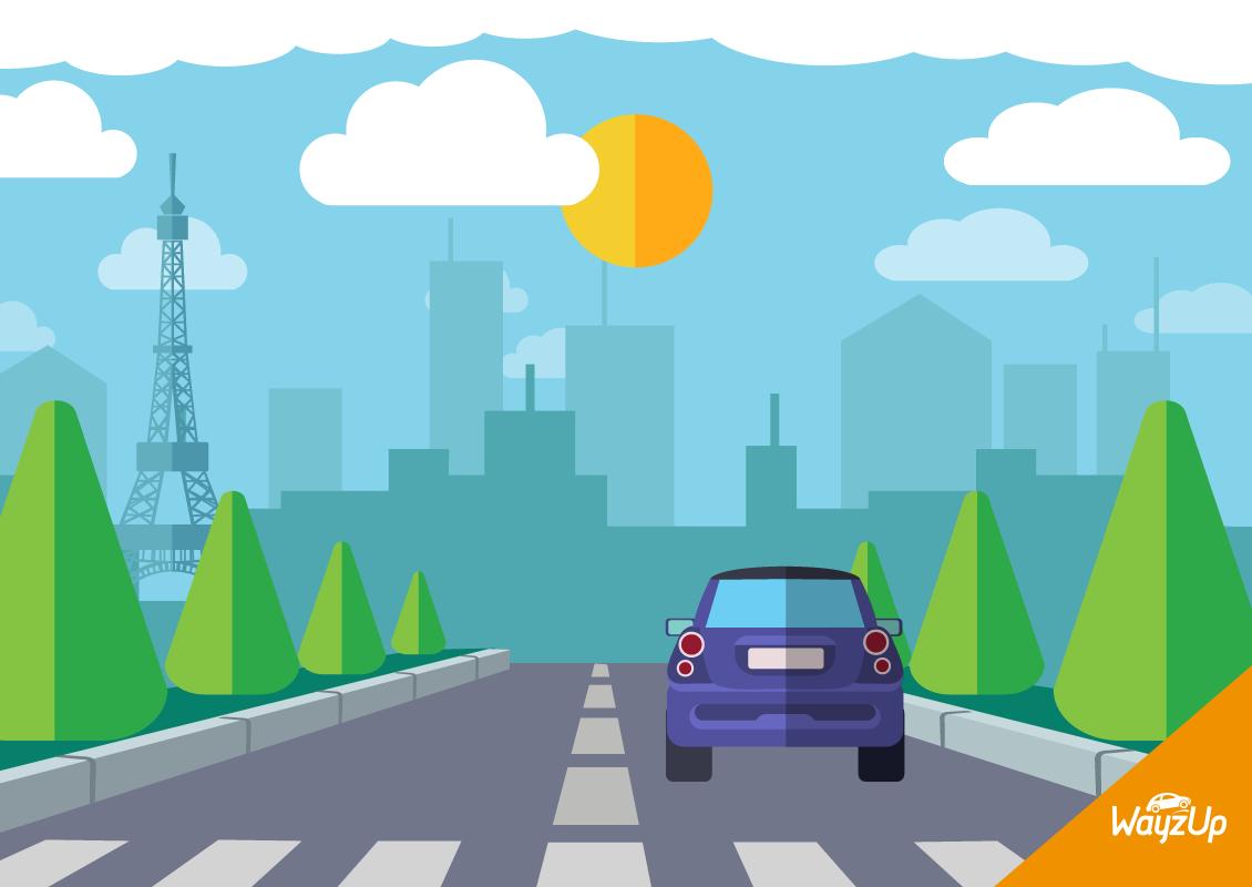 Pollution Paris covoiturage route WayzUp