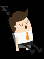 Coolaborateur dormir sieste WayzUp