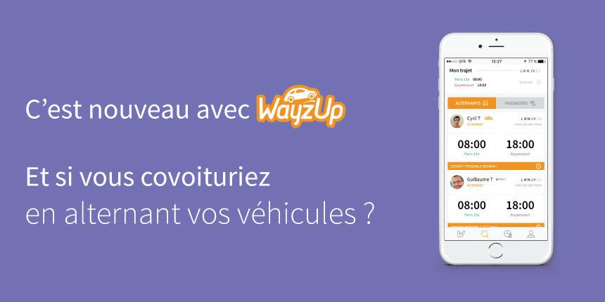 Alternance véhicule WayzUp covoiturage domicile-travail
