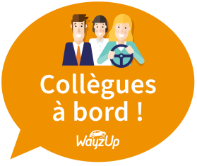 Stickers covoiturage domicile travail WayzUp