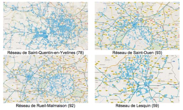 WayzUp covoiturage domicile-travail carte réseau