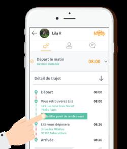 Application WayzUp covoiturage domicile-travail fonctionnalités