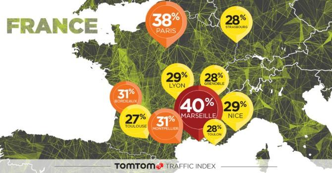 Le top 10 des villes les plus embouteillées de France