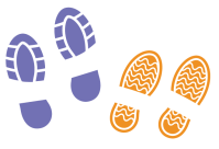 Footprints copietonnage covoiturage WayzUp