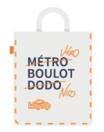 Totebag WayzUp covoiturage domicile-travail