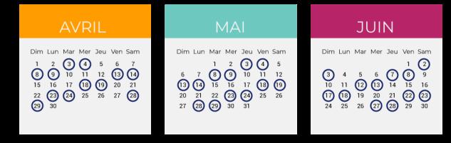 Calendrier greve SNCF Klaxit covoiturage
