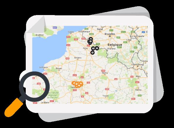 Map Klaxit Midas Centres Auto