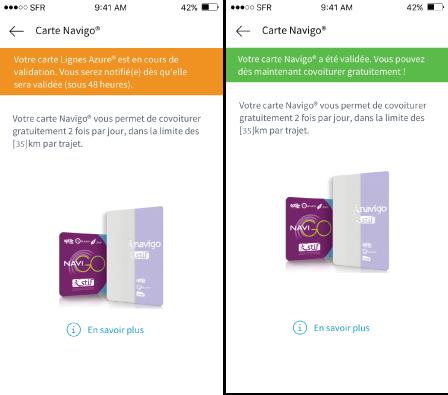 Klaxit Screen Pass Navigo covoiturage gratuit