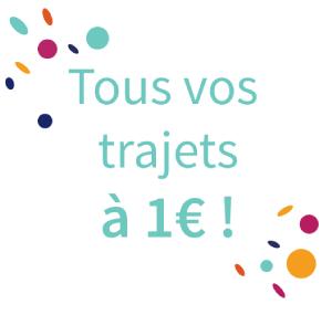 Trajets covoiturages Klaxit 1€ 1 euro