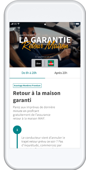 Garantie Retour Maison covoiturage domicile-travail MAIF Uber Klaxit
