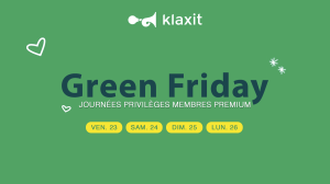 Green Friday Klaxit covoiturage domicile-travail offerts
