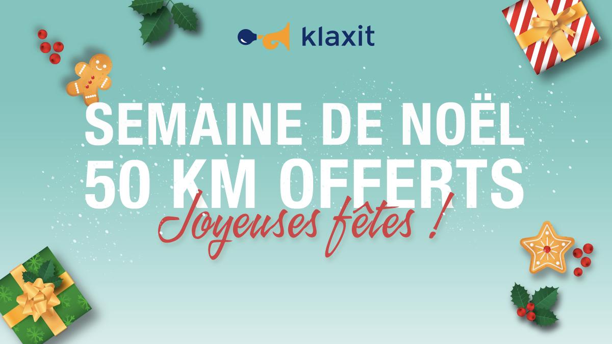 Opération Noël trajets gratuits Pass Navigo Klaxit covoiturage