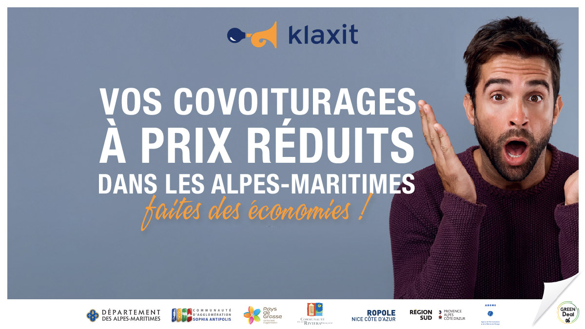 Covoiturage 1€ Alpes-Maritimes 40 km