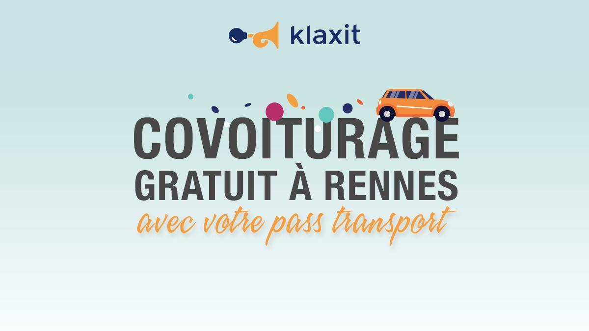 Covoiturage gratuit Rennes 25 km Pass Transport