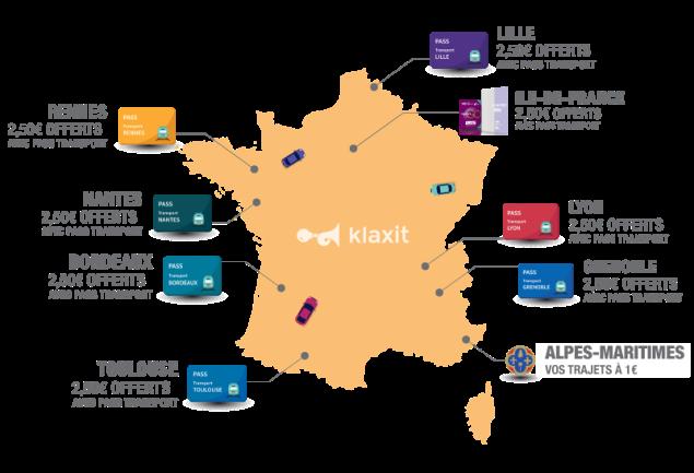 Covoiturage gratuit en France 2,50 € Pass Transport