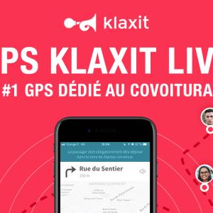 Klaxit covoiturage domicile-travail GPS dédié