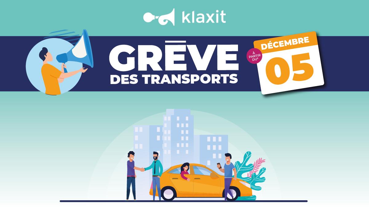 Grève transport 5 décembre RATP covoiturage Klaxit